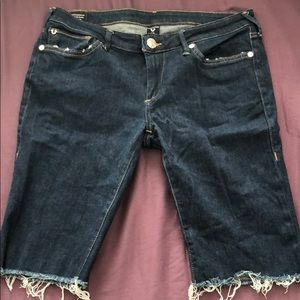 True Religion Bermuda jean shorts